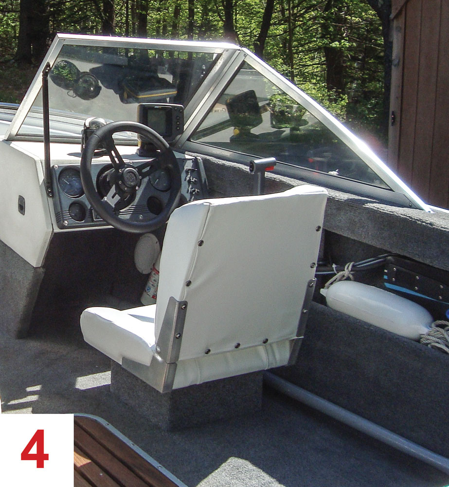 The Result Is Front Facing Seating For Five Behind Windshield A Lot More Storage Than I Had And Large Comfortable Aft Seat Three Thats Easily