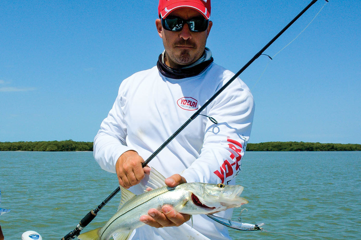 Chris Bishop from Yo-Zuri shows off one of many snook caught during Mangrove Madness.